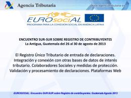 Jueves 29 Agosto 2013 - SIA de EUROsociAL II