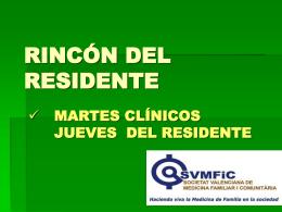 RINCON DEL RESIDENTE - SVMFiC