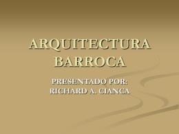 Arquitectura Barroca - Planos de Casas
