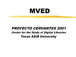 MVED - Proyecto Cervantes