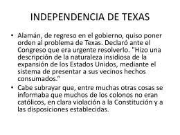 INDEPENDENCIA DE TEXAS
