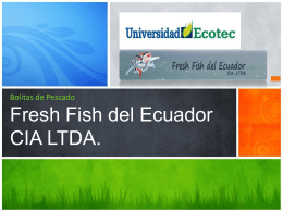 Bolitas de PescadoFresh Fish del Ecuador CIA LTDA.