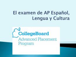 El nuevo examen de AP - SchoolWorld an Edline Solution