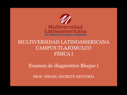 Examen de diagnostico del bloque I.