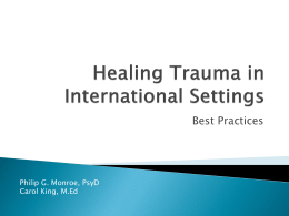 Healing Trauma in International Settings