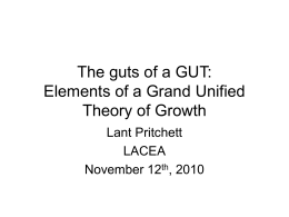 The guts of a GUT: Elements of a Grand Unified Theory of