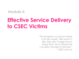 What is CSEC? - Kristi House Child Advocacy Center