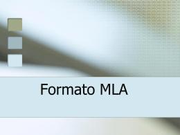 Formato MLA