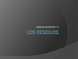 LOS RESIDUOS - BioGeoAlarcos