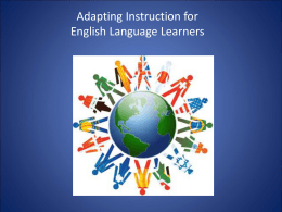 Adapting Instruction for ESL Learners