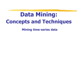 Data Mining: Concepts and Techniques — Chapter 8 — 8.2