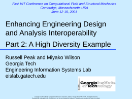 Slides - Georgia Tech Engineering Information Systems Lab