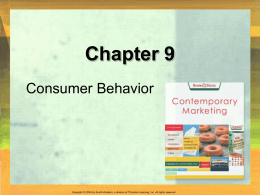 Ch 09: Consumer Behavior