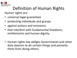 Human Rights Training