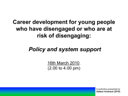 Career development for young people who have …