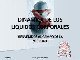DINAMICA DE LOS LIQUIDOS CORPORALES
