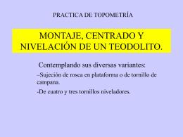 Montaje de un teodolito (1)