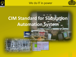 CIM Standard for Substation Automation System