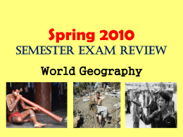 Spring Semester Final Review