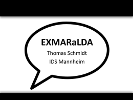 EXMARaLDA