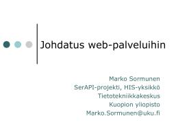 PlugIT-ydinrajapinnat HTTP/XML