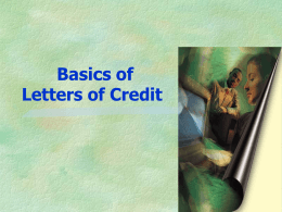 A Letter of Credit is - Business Matchmaking