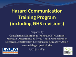 Hazard Communication Training Program