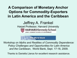 A Comparison of Monetary Anchor Options for …