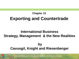 International Business Strategy, Management & the New
