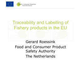 EU requirements concerning traceability of Fishery products