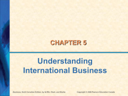 Ch 5 - International Business
