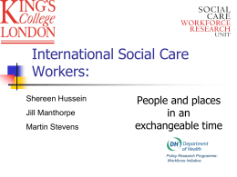 International Social Care Workers