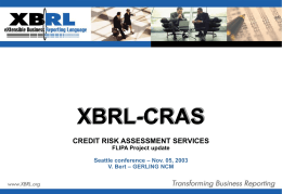 XBRL-CRASFlipa pres Seattle 05/11/2003