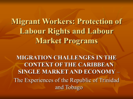 Migrant Workers: Protection of Labour Rights and …