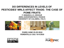 Do differences in levels of pesticides' MRLs affect trade