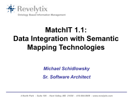 Semantic Matching with MatchIT 1.0