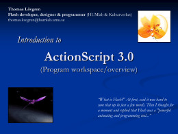 Actionscript - Introduktion