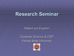 Research Seminar - Florida State University
