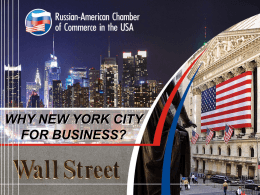 New York City - Russian-American Chamber of Commerce