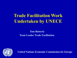 Trade Facilitation – Changes and challenges