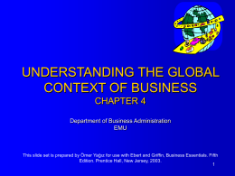 CHAPTER 2 - UNDERSTANDING THE GLOBAL CONTEXT …