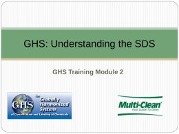 GHS: Understanding the SDS - Multi
