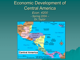 Economic Development of Central America Econ. 4200