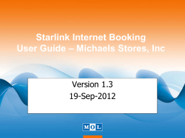 Internet Booking User Guide - MOL Consolidation Services