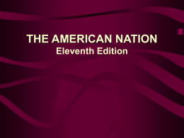 THE AMERICAN NATION Tenth Edition THE AMERICAN …