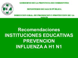 Recomendaciones INSTITUCIONES EDUCATIVAS …