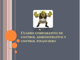 Cuadro comparativo de control administrativo y control