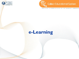 E-LEARNING - Galileo Educational System