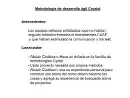 PROPIEDADES DE CRYSTAL CLEAR