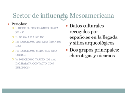 Sector de influencia Mesoamericana